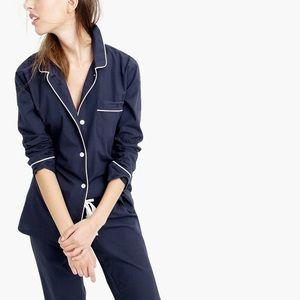 NWT J. Crew vintage pajama top only XL blue